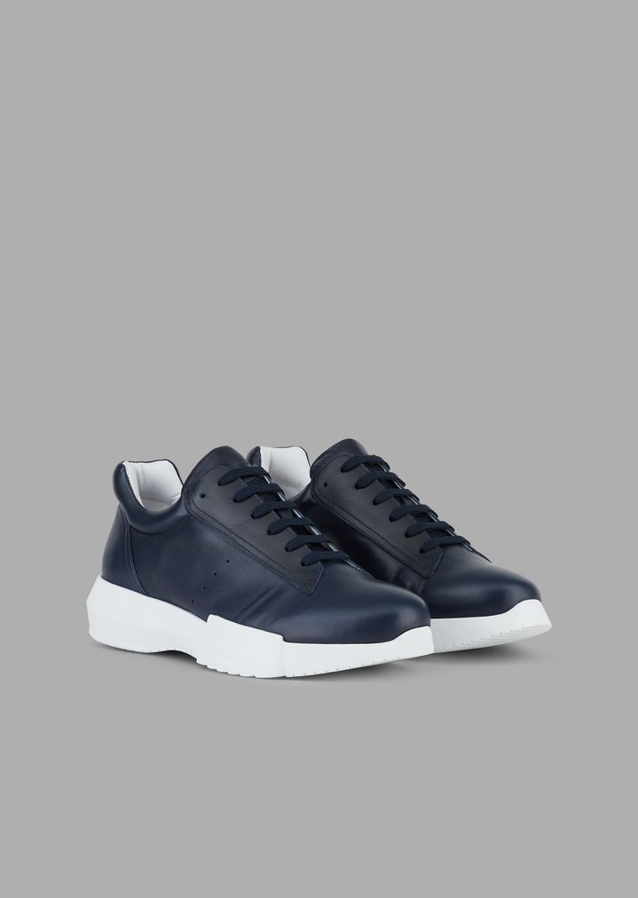 GIORGIO ARMANI Nappa leather sneakers Sneakers Man r