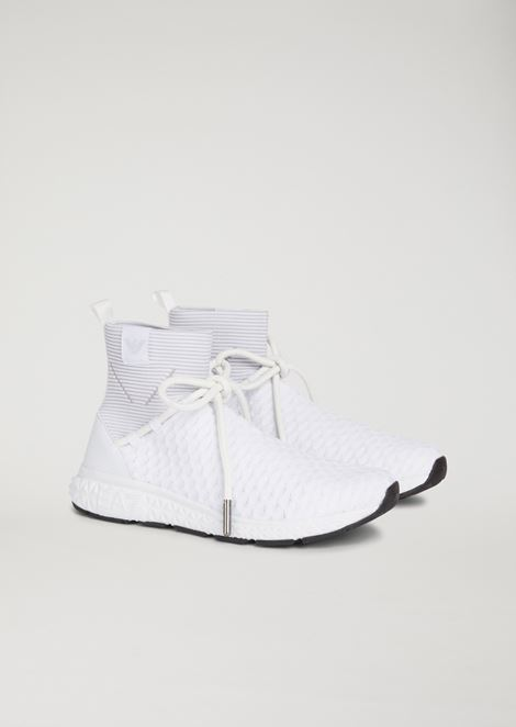 Sock sneakers with laces