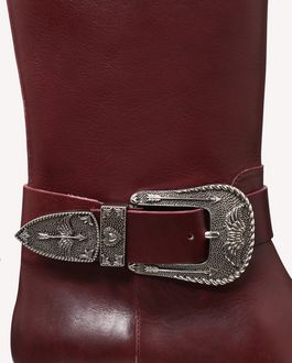 REDValentino BUCKLE AND SIGNS BOOT