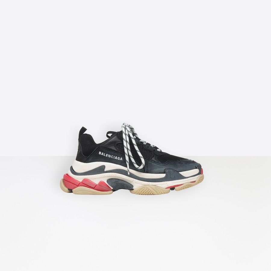 Triple S Sneaker BLACK/RED for Women
