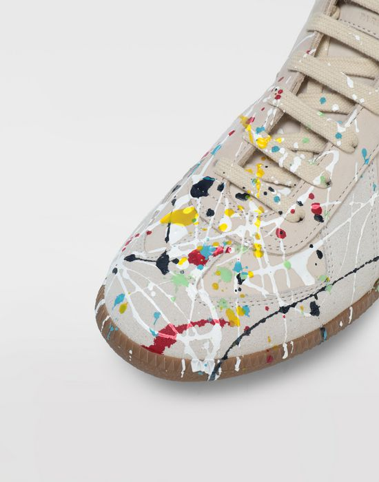 MAISON MARGIELA Suede paint drop 'Replica' sneakers Sneakers [*** pickupInStoreShippingNotGuaranteed_info ***] a