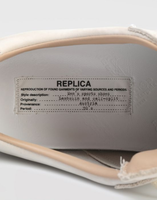 MAISON MARGIELA Suede paint drop 'Replica' sneakers Sneakers [*** pickupInStoreShippingNotGuaranteed_info ***] b