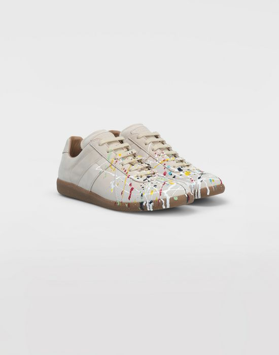 MAISON MARGIELA Suede paint drop 'Replica' sneakers Sneakers [*** pickupInStoreShippingNotGuaranteed_info ***] d