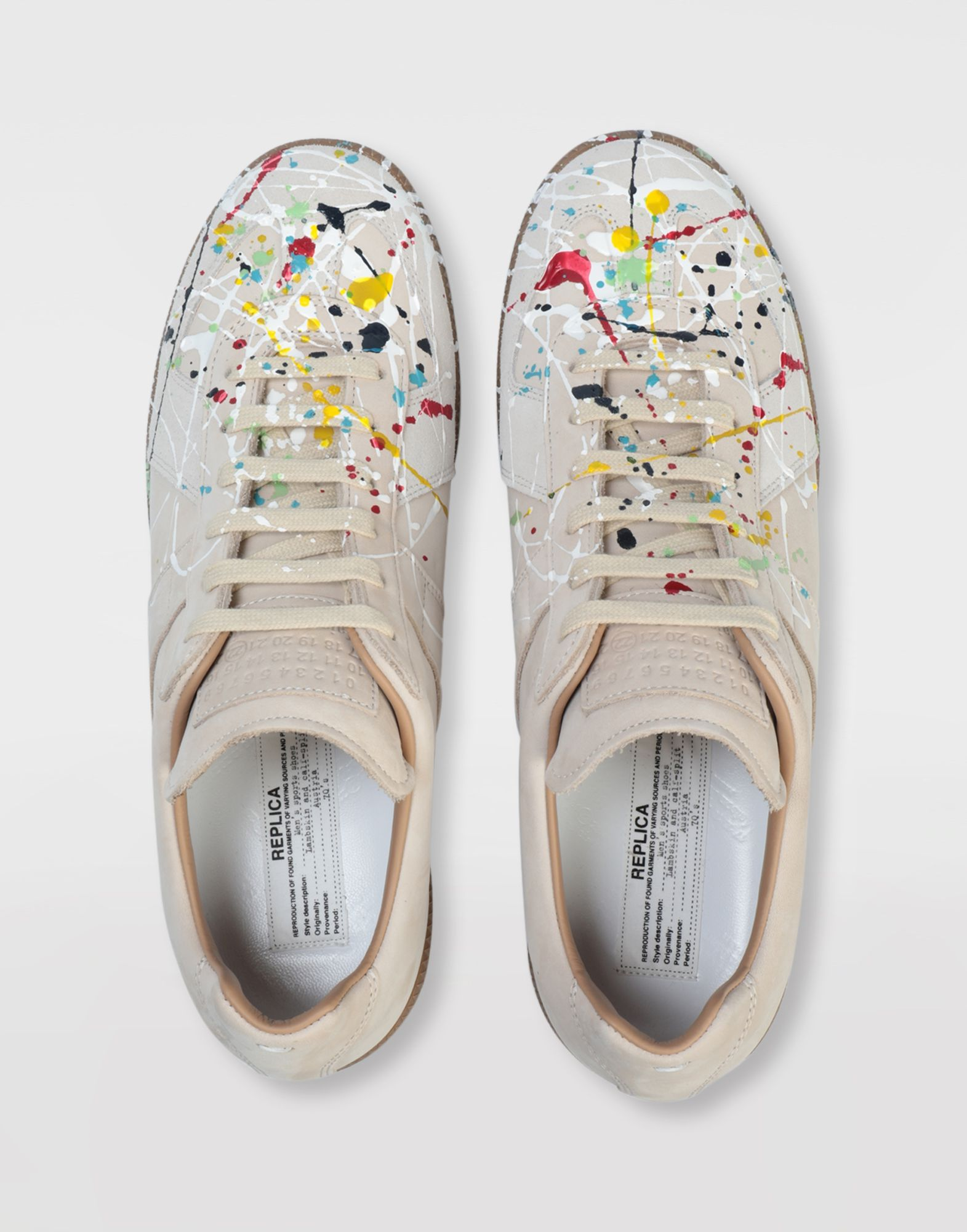 MAISON MARGIELA Suede paint drop 'Replica' sneakers Sneakers Man e