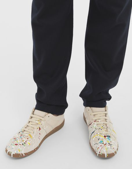 MAISON MARGIELA Suede paint drop 'Replica' sneakers Sneakers Man r