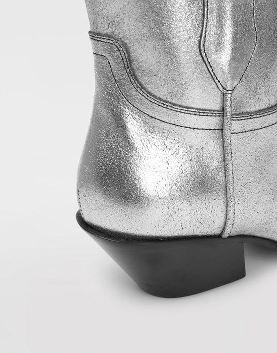 MAISON MARGIELA Silver cowboy boots Ankle boots [*** pickupInStoreShipping_info ***] b