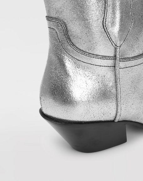 MAISON MARGIELA Silver cowboy boots Ankle boots Woman b