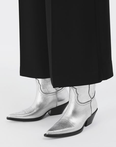 MAISON MARGIELA Silver cowboy boots Ankle boots Woman r