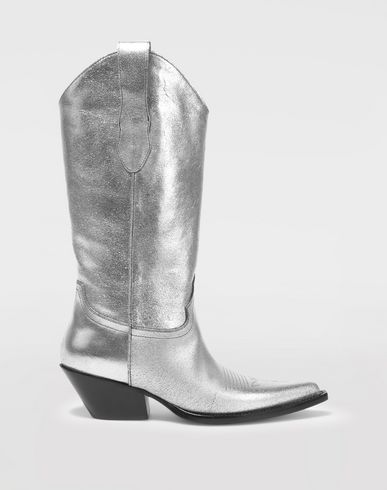 MAISON MARGIELA Boots [*** pickupInStoreShipping_info ***] High silver cowboy boots f