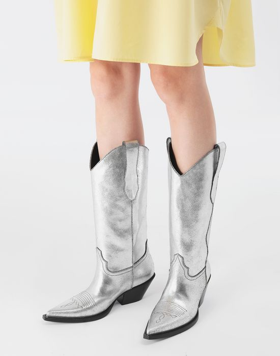 MAISON MARGIELA High silver cowboy boots Boots [*** pickupInStoreShipping_info ***] r