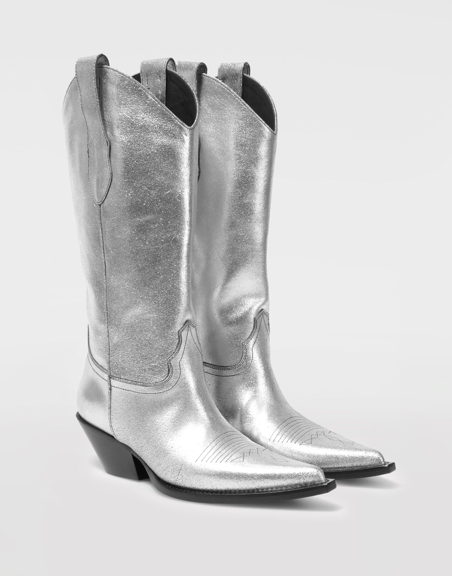 MAISON MARGIELA High silver cowboy boots Boots Woman d