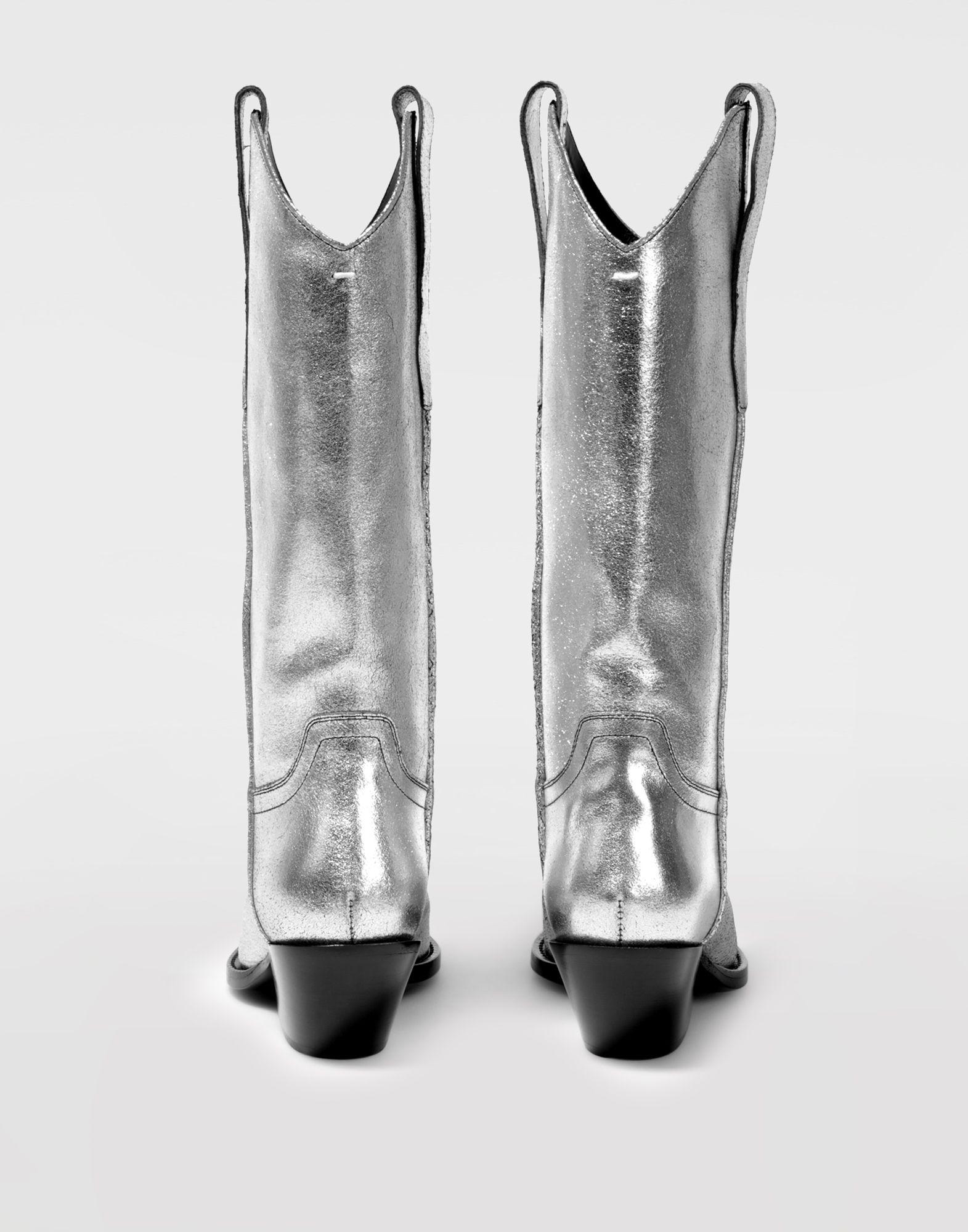 MAISON MARGIELA High silver cowboy boots Boots Woman e