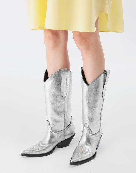 MAISON MARGIELA High silver cowboy boots Boots Woman r