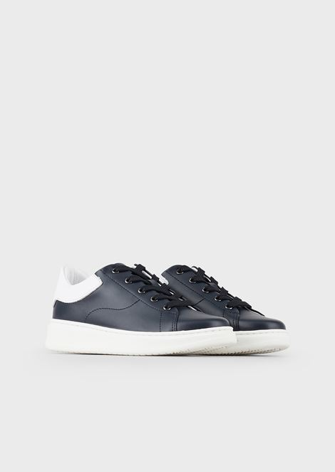 Nappa sneakers with Emporio Armani logo