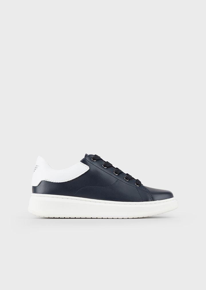 6705484b9a Nappa sneakers with Emporio Armani logo
