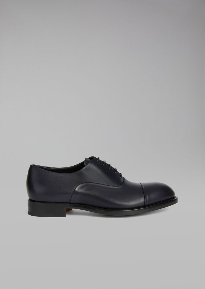 2c0810ef4 Smooth leather Oxford shoe with decorative stitching