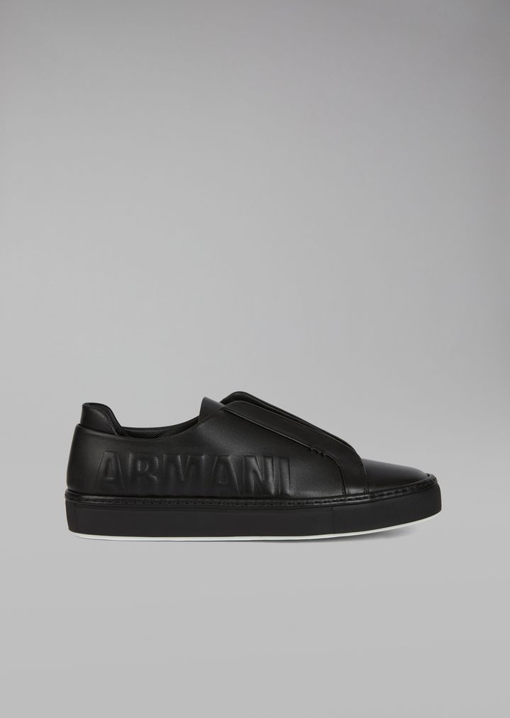 Leather sneakers with logo  51062c9c309