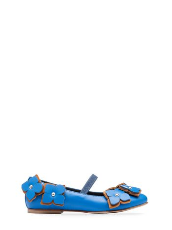 Marni nappa leather ballet flat with flower details Woman