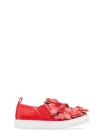 Marni nappa leather slip-on with flower details Woman