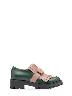 Marni calfskin loafer with fringe detail Woman