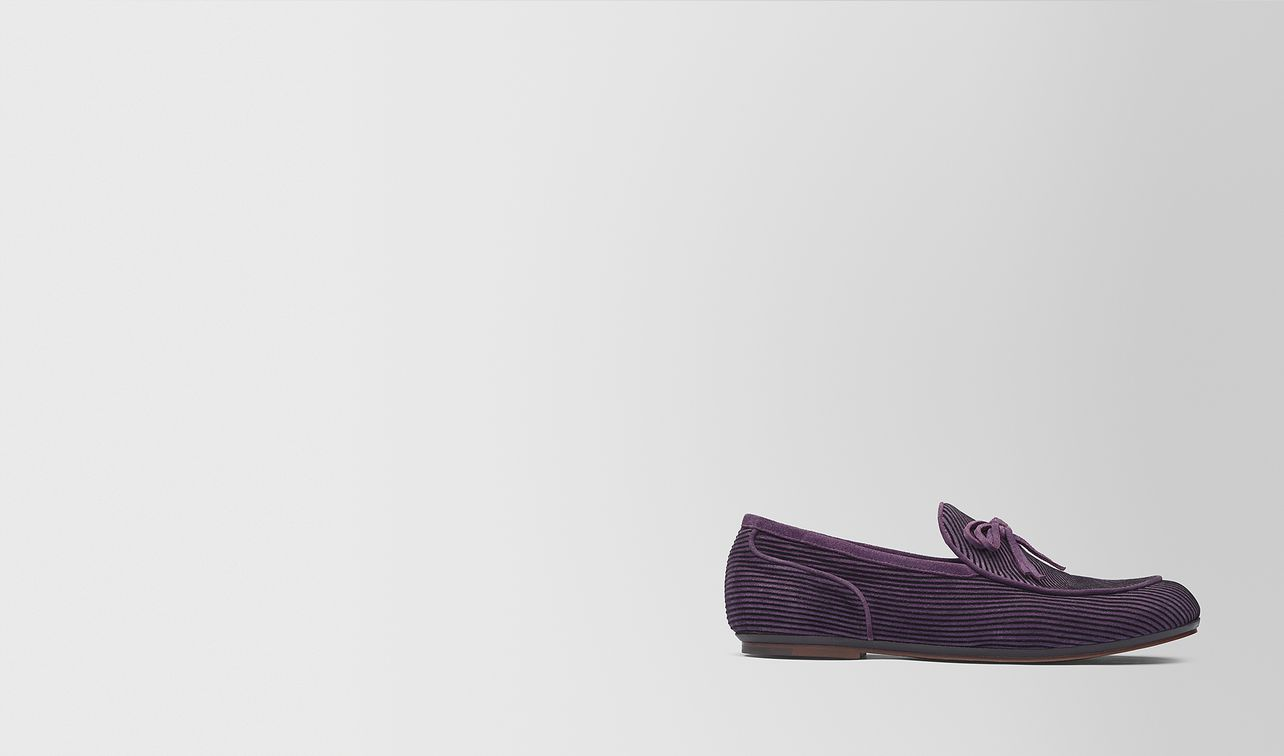 grape suede bv trinity loafer  landing