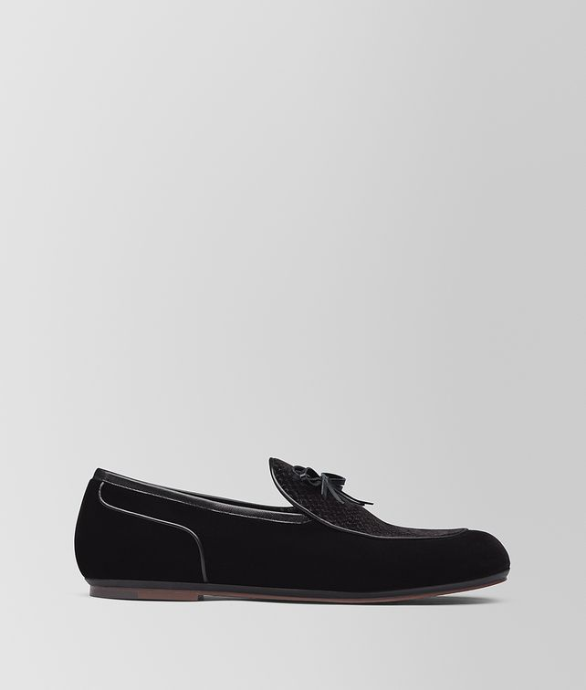 BOTTEGA VENETA NERO VELVET BV TRINITY LOAFER Mocassin or Slipper [*** pickupInStoreShippingNotGuaranteed_info ***] fp