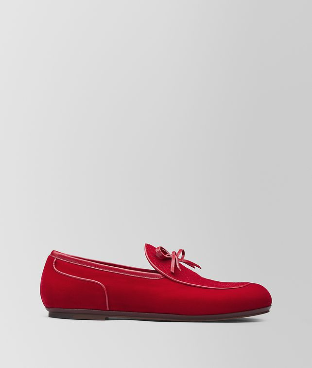 BOTTEGA VENETA RED VELVET BV TRINITY LOAFER Slippers and Loafers Man fp