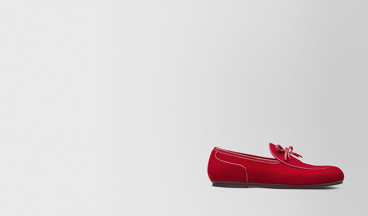 red velvet bv trinity loafer landing