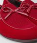 red velvet bv trinity loafer Front Detail Portrait