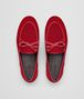 red velvet bv trinity loafer Back Detail Portrait