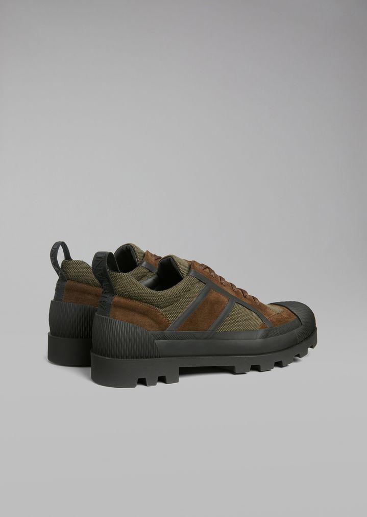 Giorgio Armani - Sneakers de malla con inserciones de ante y suela de goma - 3