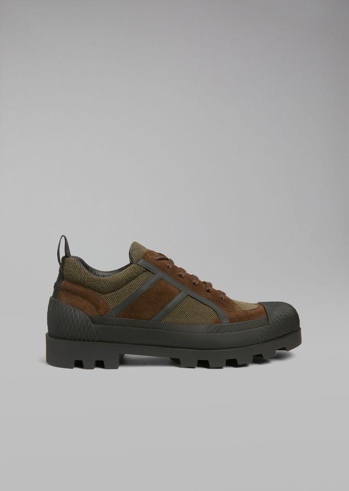 Giorgio Armani - Sneakers de malla con inserciones de ante y suela de goma - 1