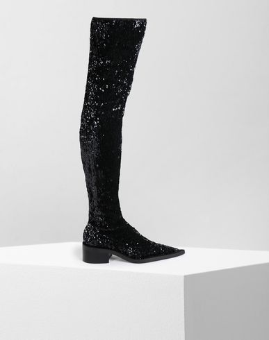 MM6 MAISON MARGIELA Boots [*** pickupInStoreShipping_info ***] Sequined thigh-high boots f