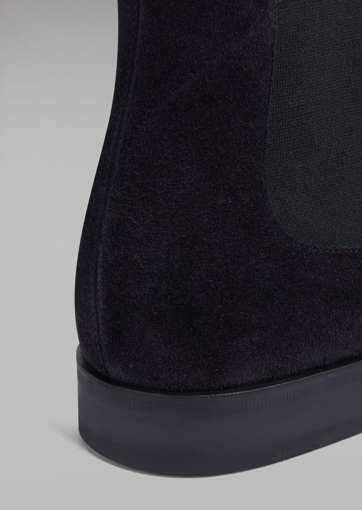 GIORGIO ARMANI Suede Beatles boot with wingtip broguing Ankle Boots Man e