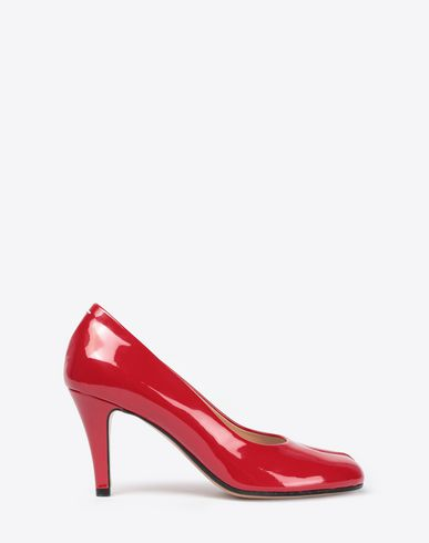 MAISON MARGIELA Tabi pumps Woman Patent leather Tabi heels f