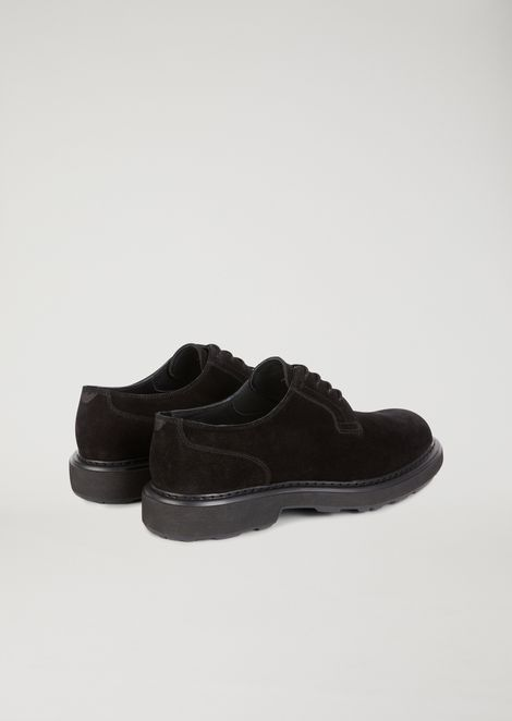 Suede leather Derby