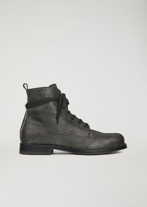 Paloma leather lace-up combat boots