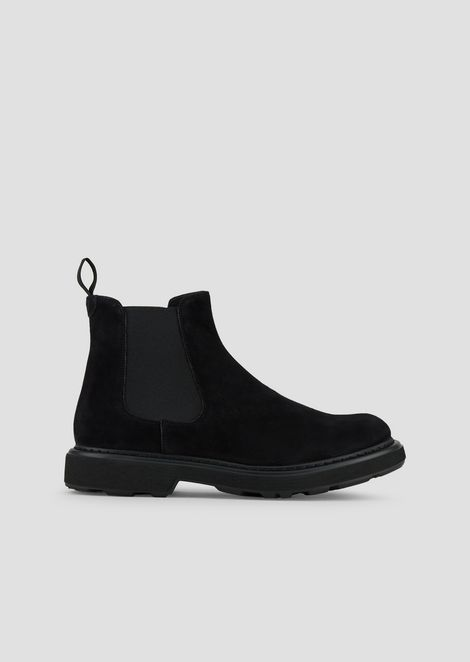 Ankle boot in suede-effect leather