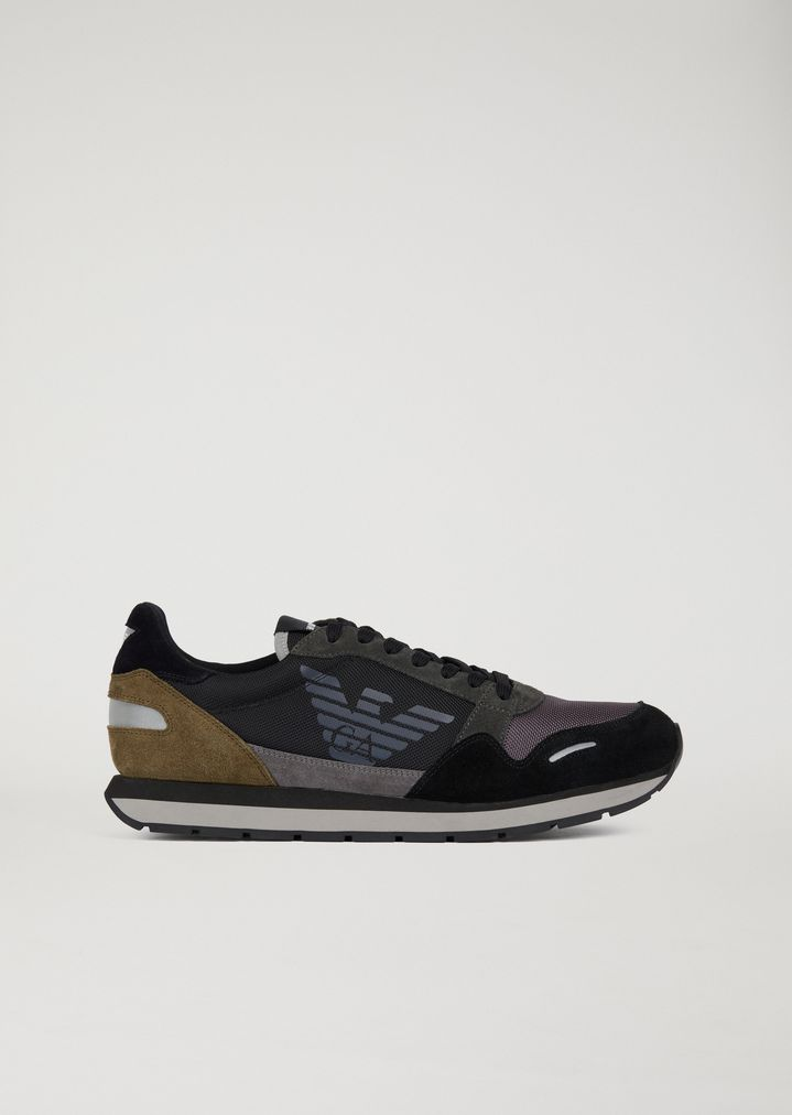 80435e3c Suede leather sneakers with side logo detail