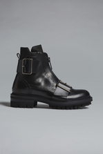 DSQUARED2 Disco Western New Preppy Punk Ankle Boots Lace-Up Ankle Boot  Man