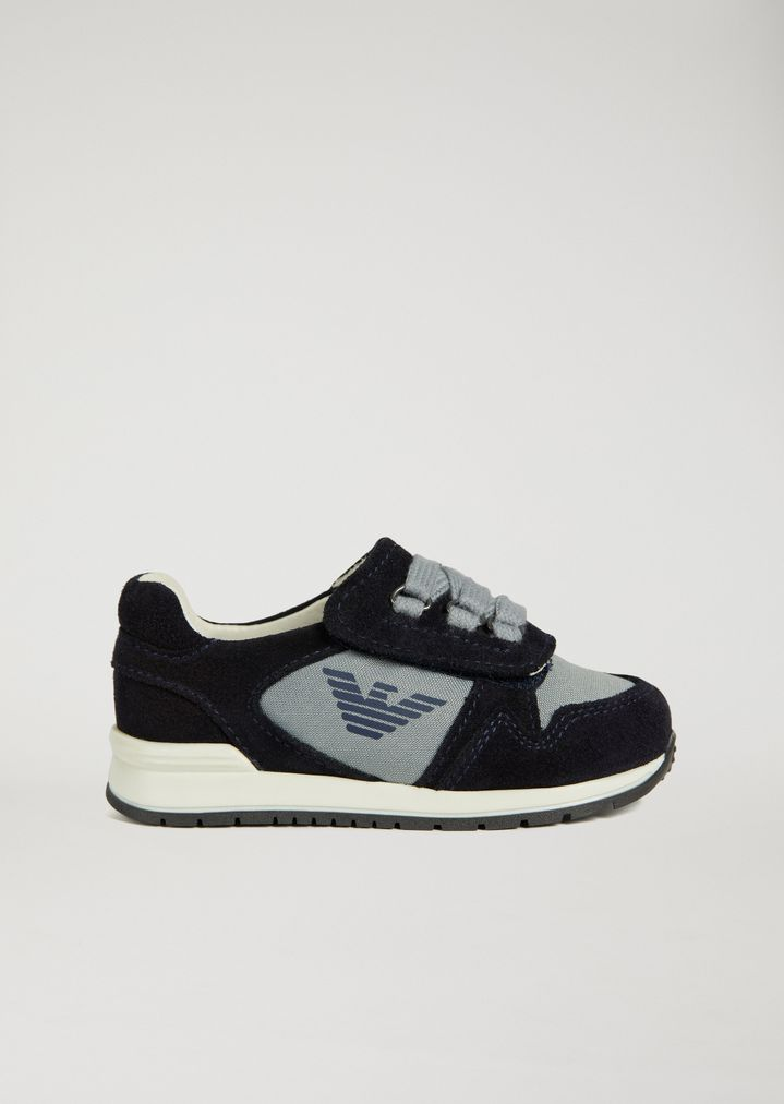 da5338602d Suede leather sneakers with side logo detail