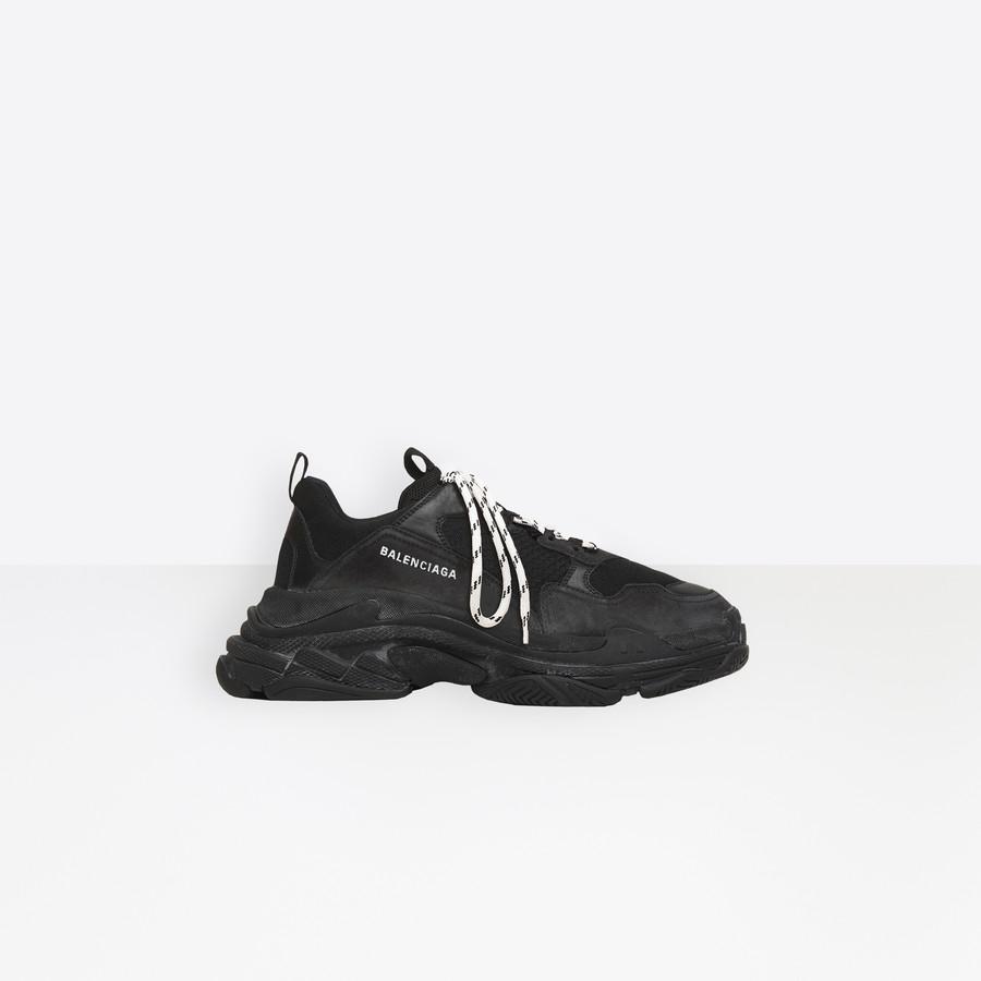 Triple S Sneaker Black for Men | Balenciaga