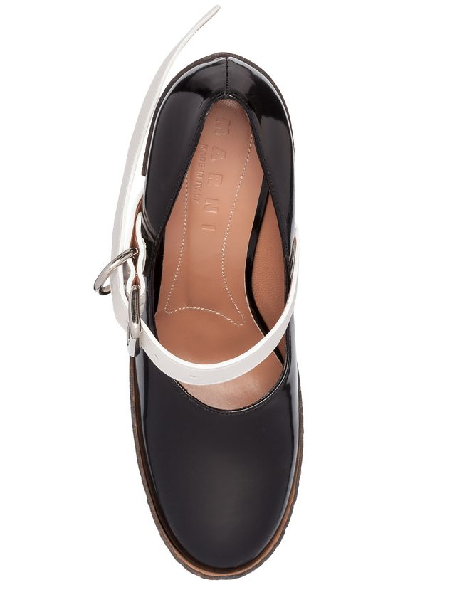 Marni Mary-Jane in brushed calfskin with staples Woman - 4