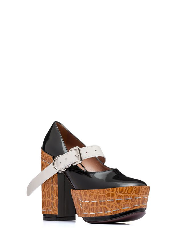 Marni Mary-Jane in brushed calfskin with staples Woman - 2