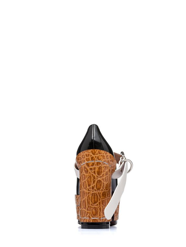Marni Mary-Jane in brushed calfskin with staples Woman - 3