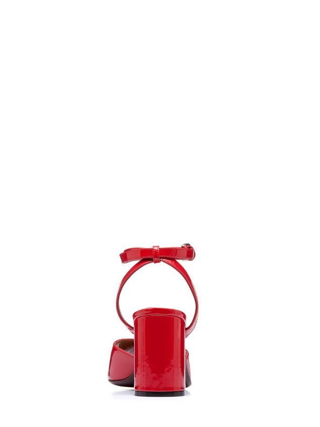 Marni Sandal in red patent leather Woman