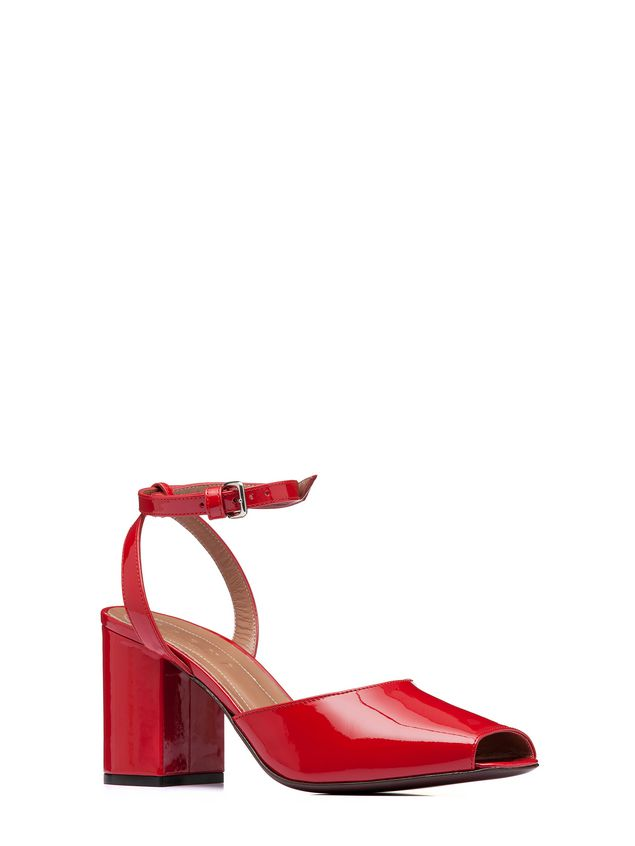 Marni Sandal in red patent leather Woman - 2