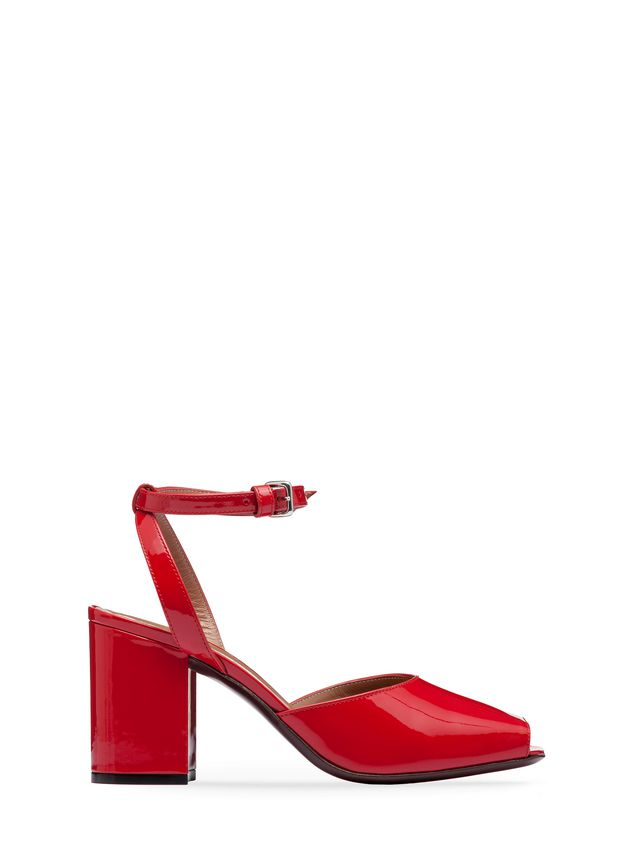 Marni Sandal in red patent leather Woman - 1