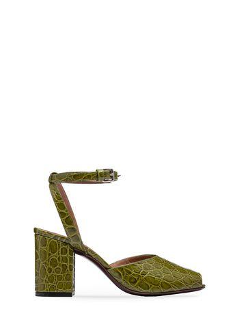 Marni Sandal in croc print calfskin Woman
