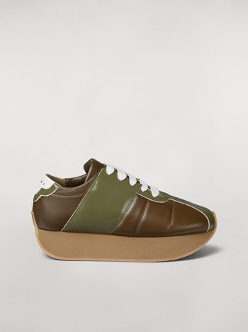 Marni Marni BIG FOOT sneaker in calfskin green Woman